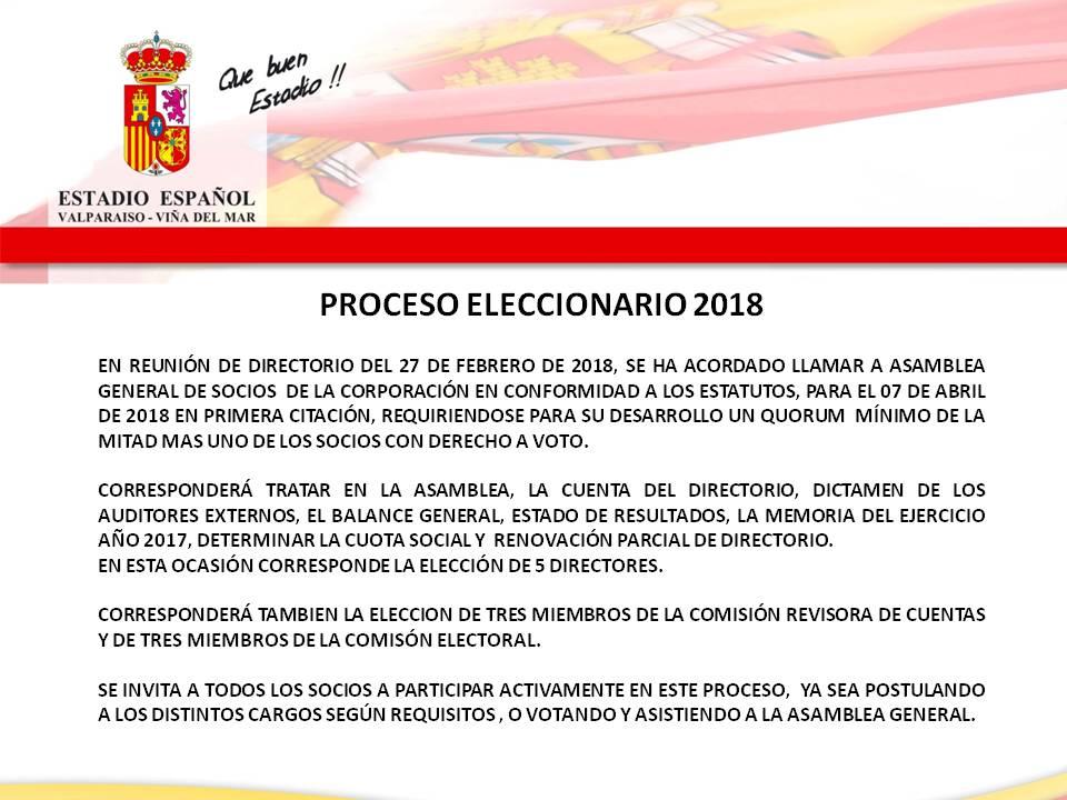PROCESO ELECCIONARIO 2018