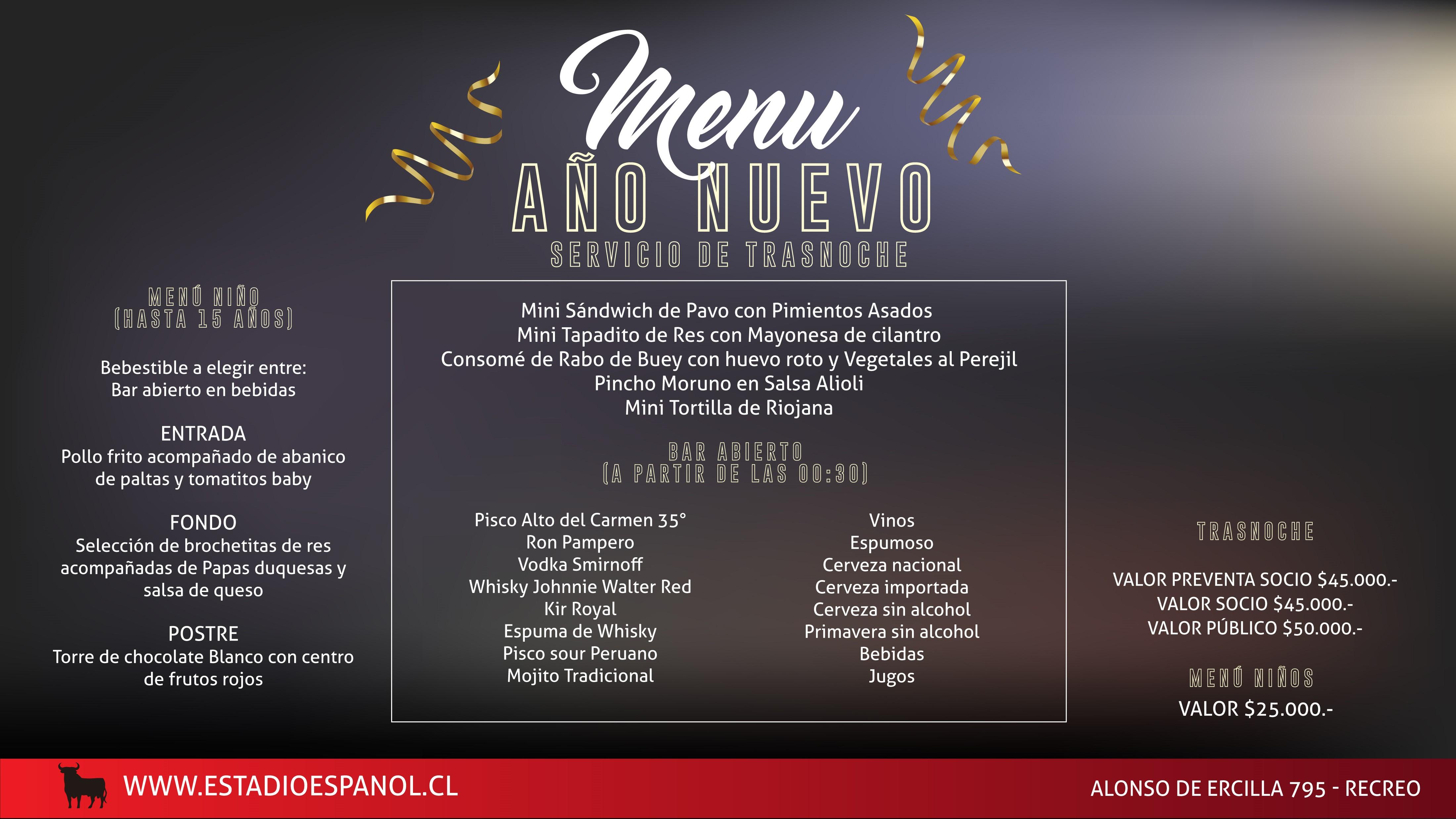 21-2 menu trasnoche